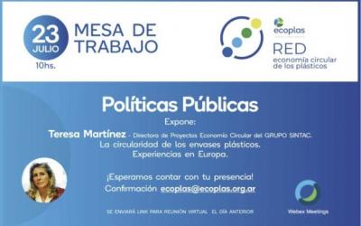 Teresa Martínez, hablará sobre la circularidad de envases de plástico